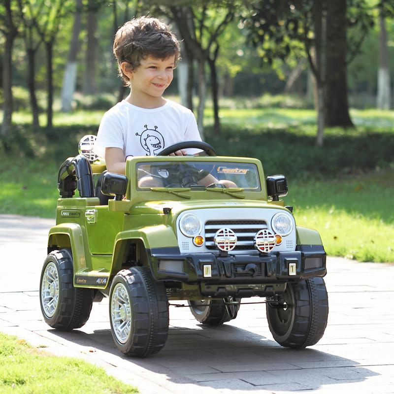 2 Seater 4×4 Electric 24V Ride On Car Jeep Style Rubber Tires Totally Loaded 24